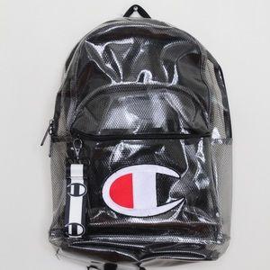 Champion Blk Supercize Clear Backpack Transparent